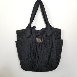 Marc by Marc Jabos Black Nylon Quilted Tote 308